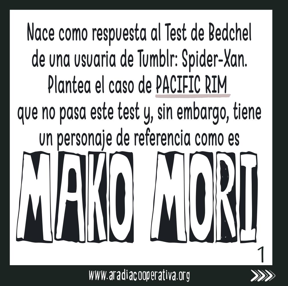 nace como respuesta al test de Bedchel a partir del personaje de Pacific Rim.