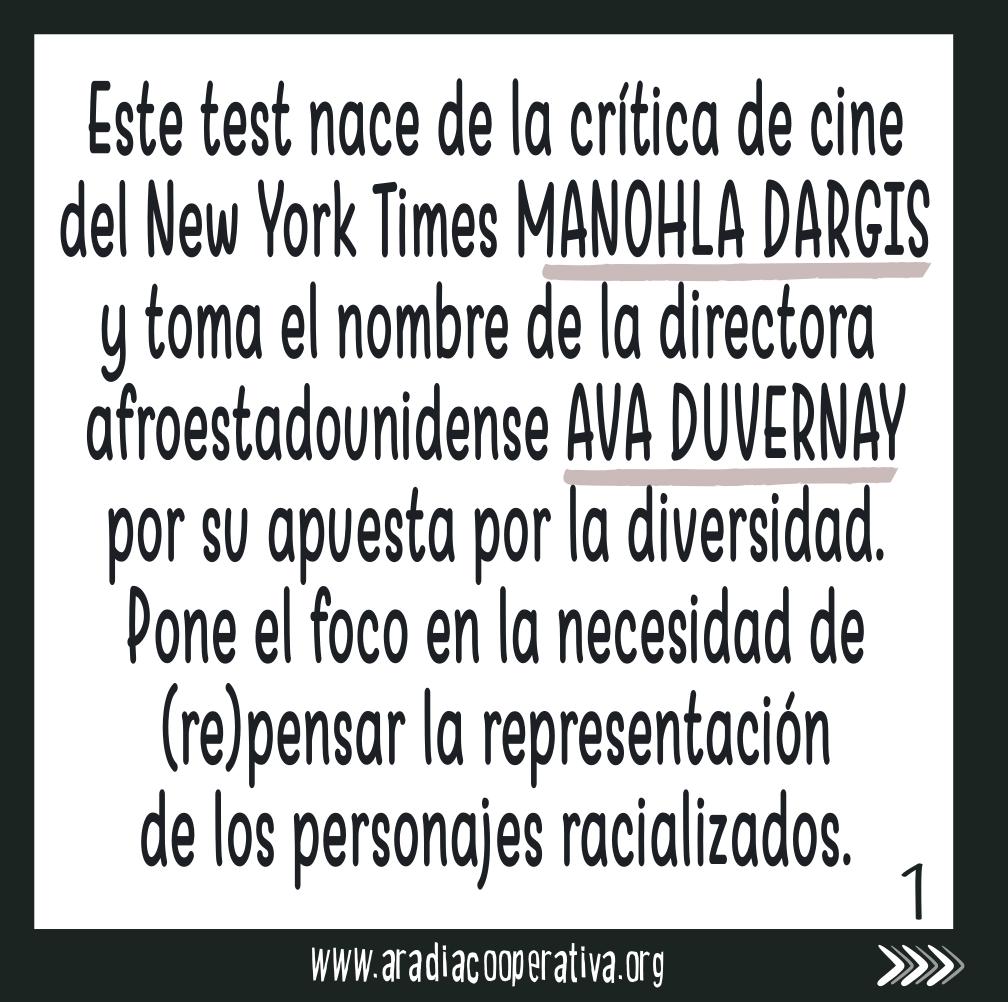Nace de la crítica de cine Manohla Dargis basándose en el trabajo de Ava Duvernay
