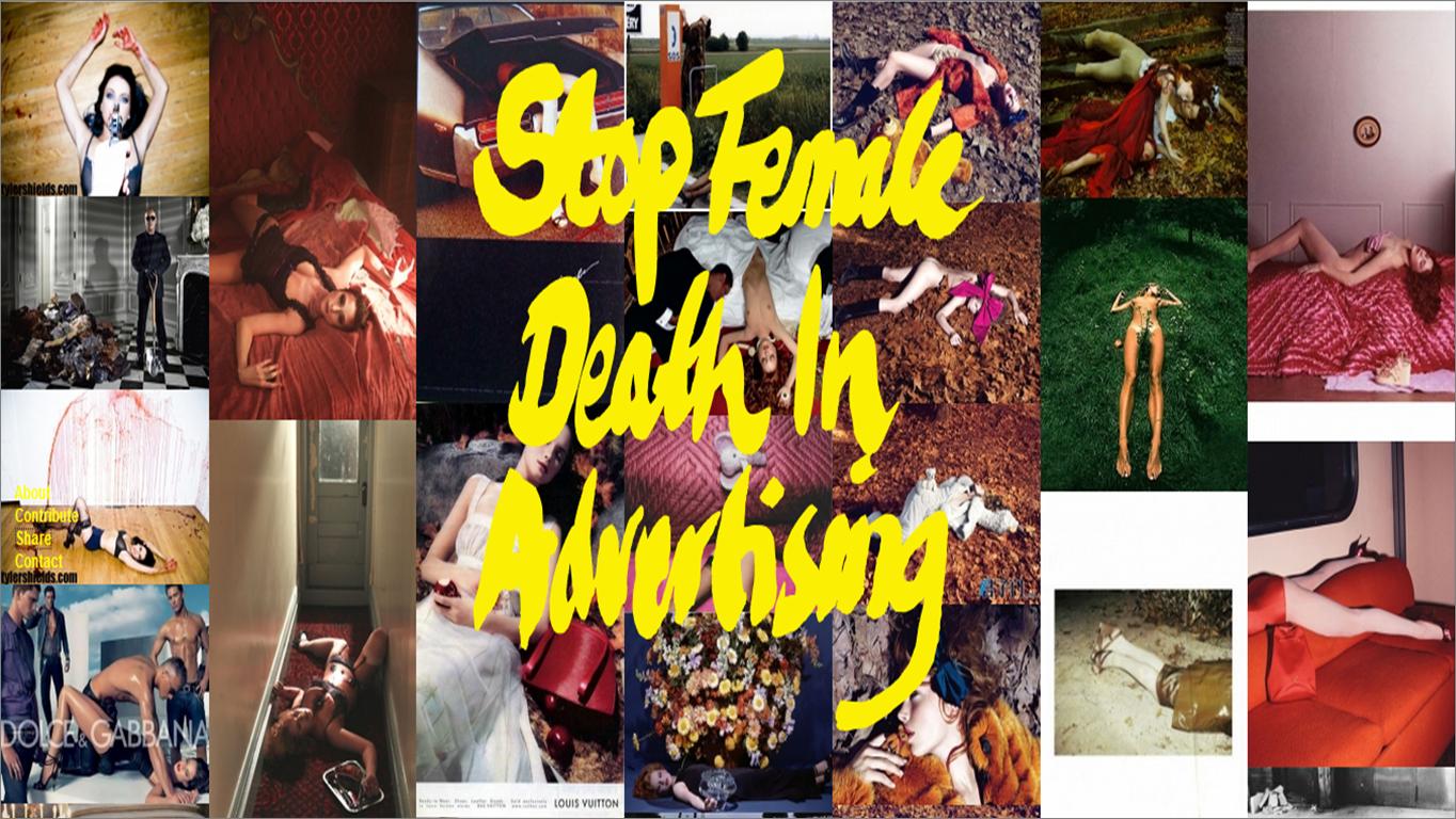 stopefemaledeathinadvertising, publicidad, muertes de mujeres, violencia simbólica, legitimación, violencia de género, violencia contra las mujeres