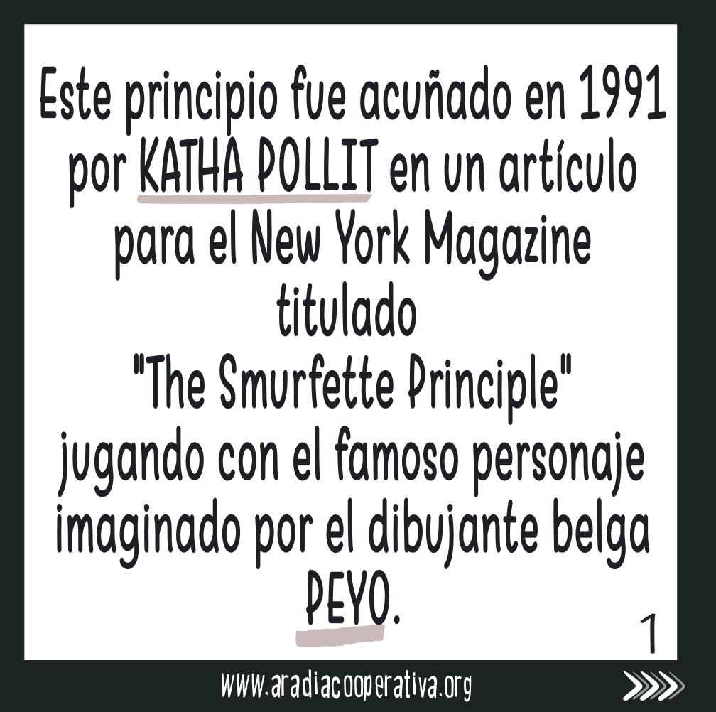 toma su nombre de la serie de dibujos Los Pitufos