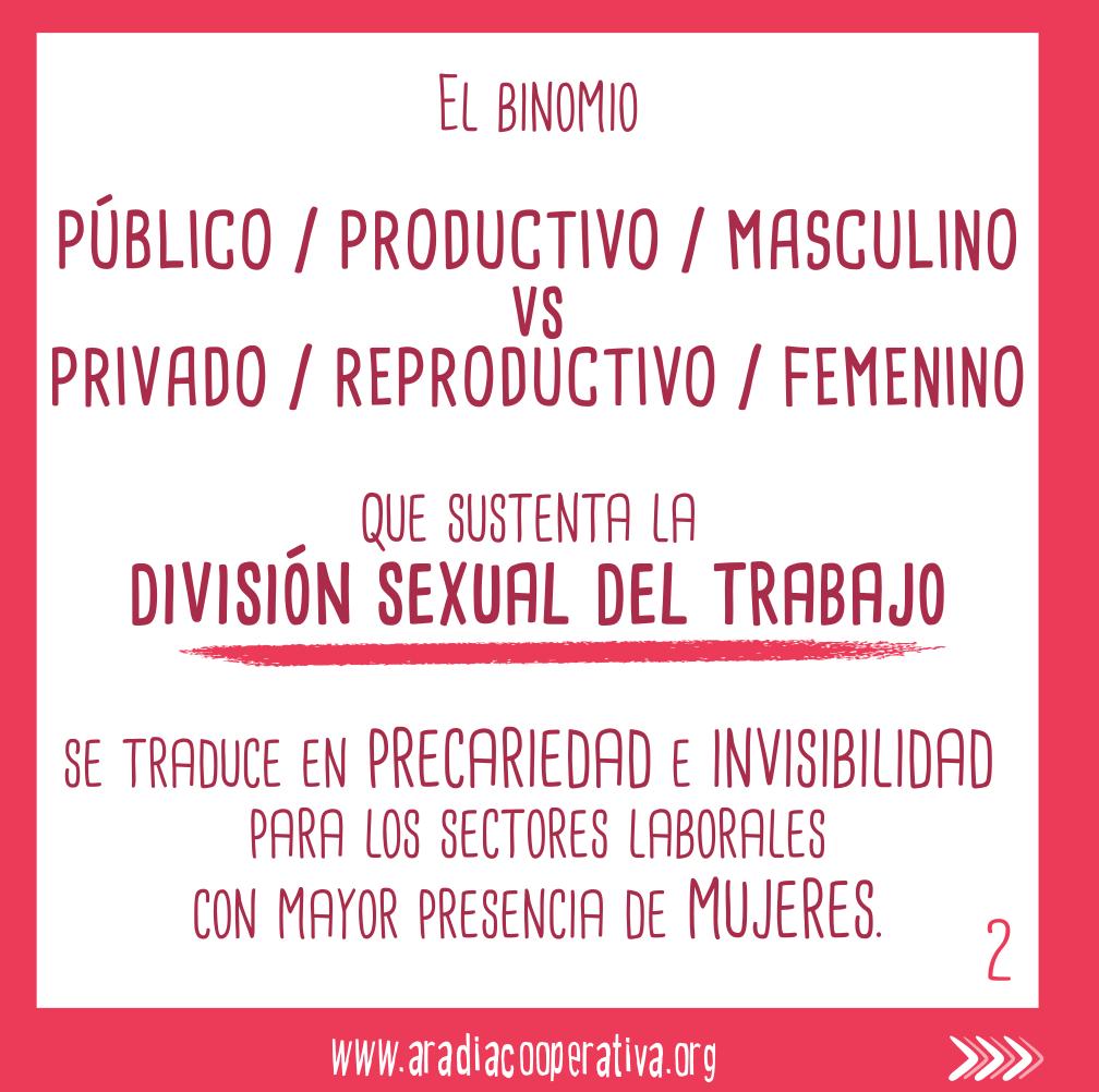 Precariedad e invisibilidad en los sectores feminizados.
