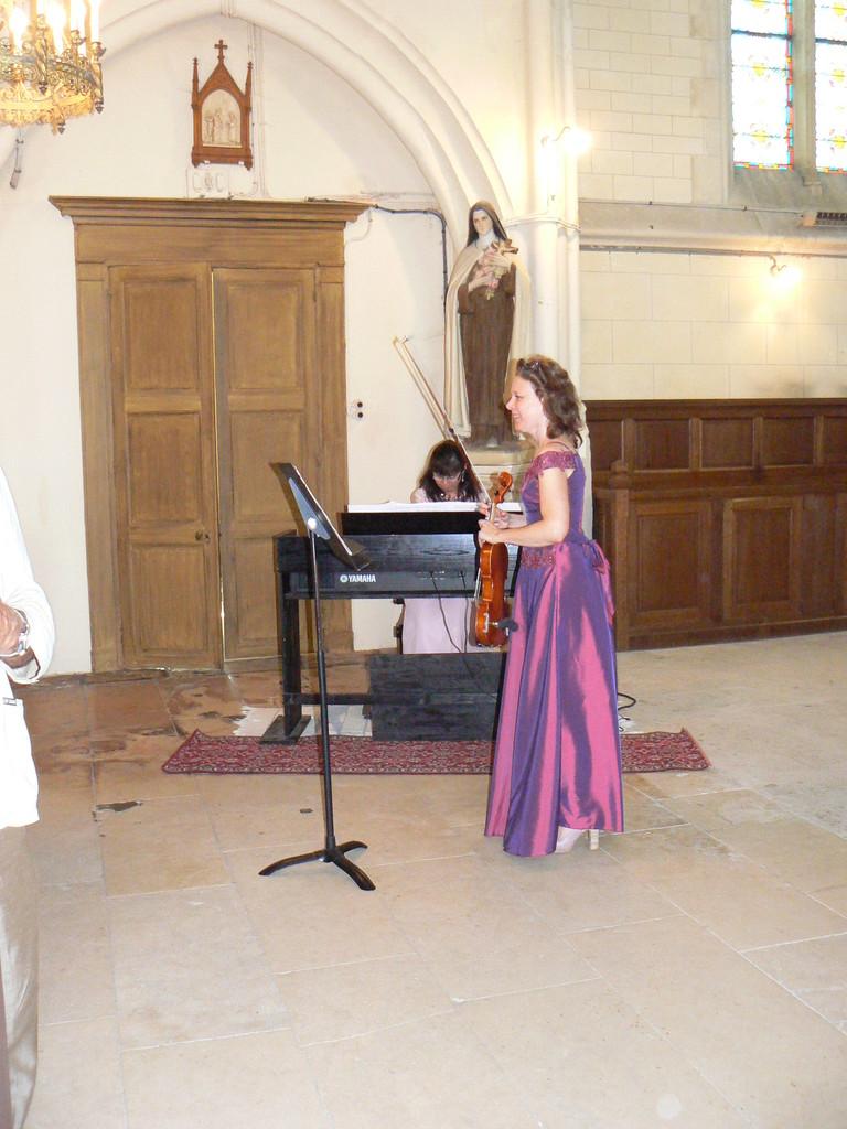 17h à l'Eglise : Duo Arc en Ciel, notre talentueuse violoniste du village et Marie Filipi