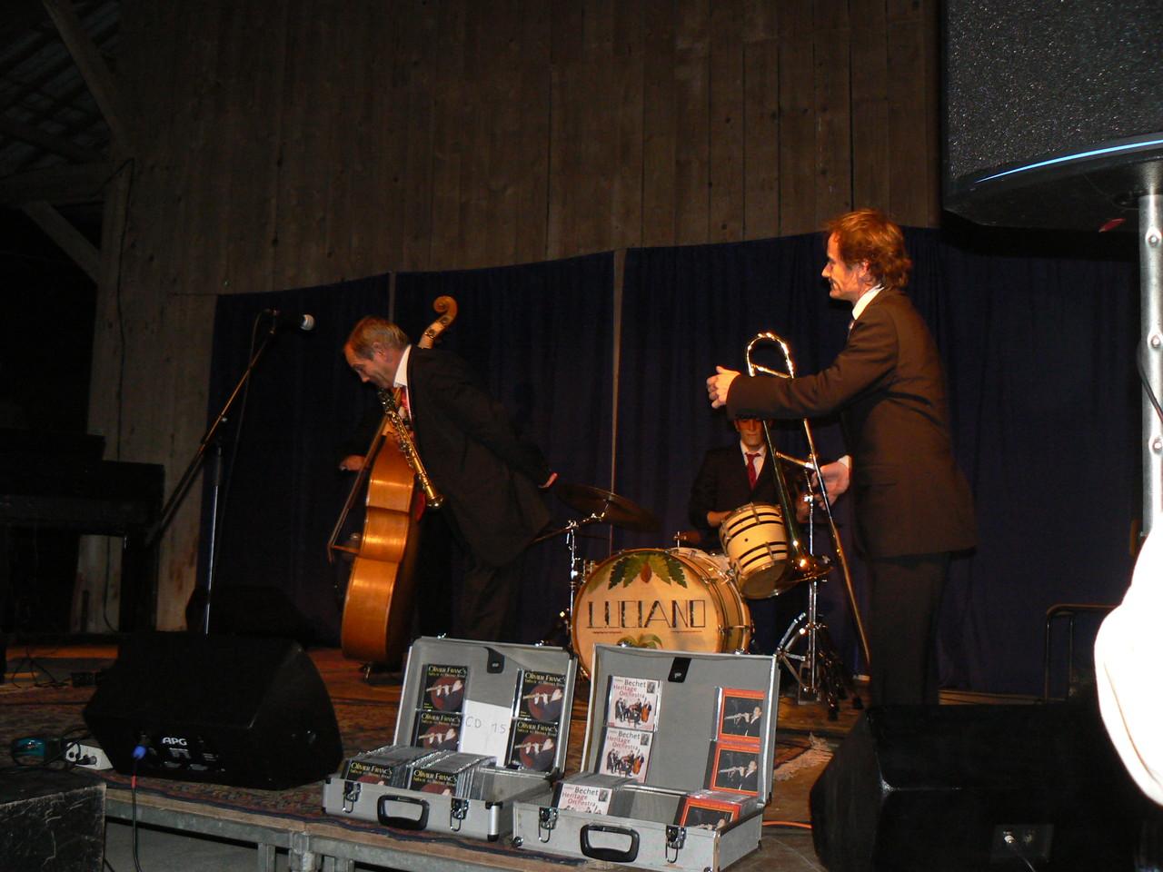 """23h chez Annick et Gustave, pour clore cette """"nuit blanche"""", un boeuf avec Olivier Franc Jazz Quintet! Des pointures!!!"""