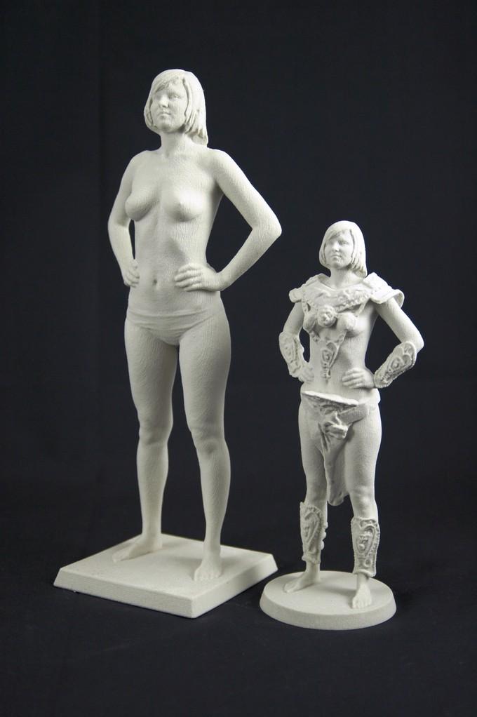 3D Art Das Model und die Kriegerin