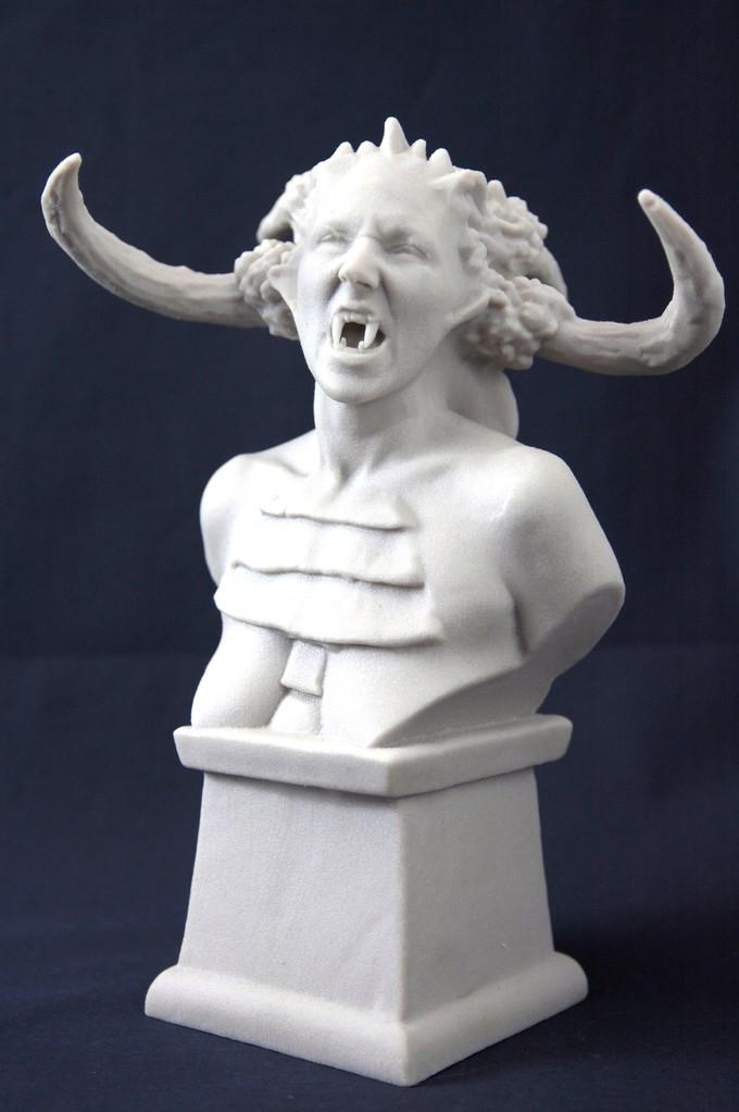 Digitale Bildhauerei die fertige Büste