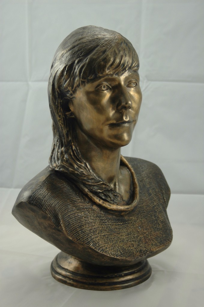 3D bust in bronze