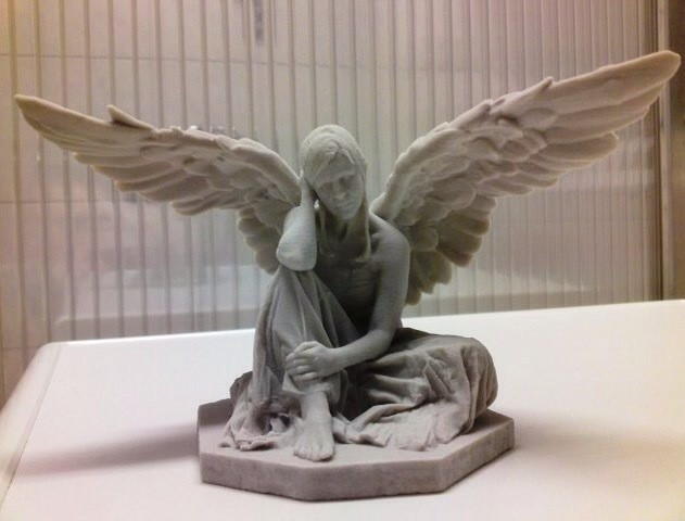 3D Art der traurige Engel