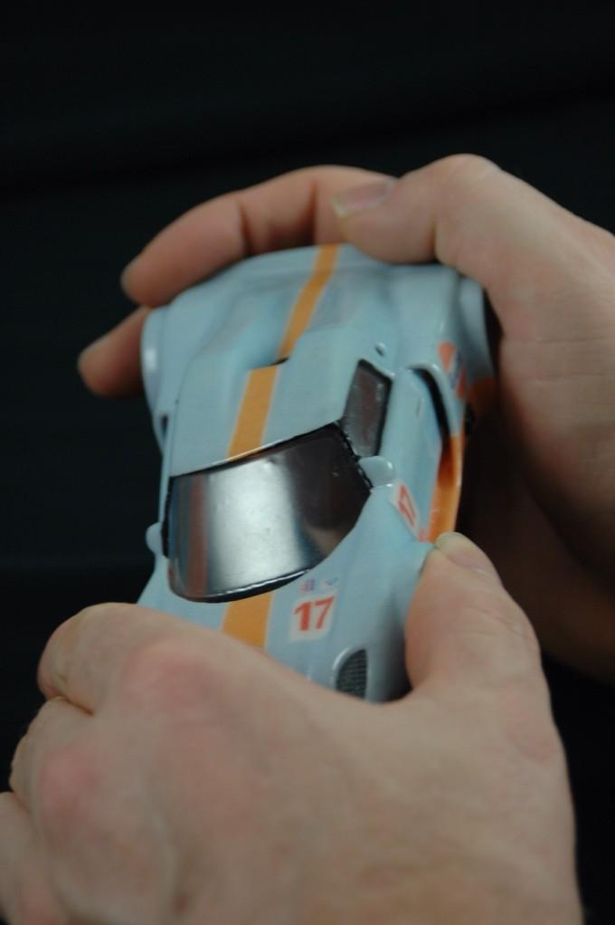 3d Druck eines Automodells im elastik Test