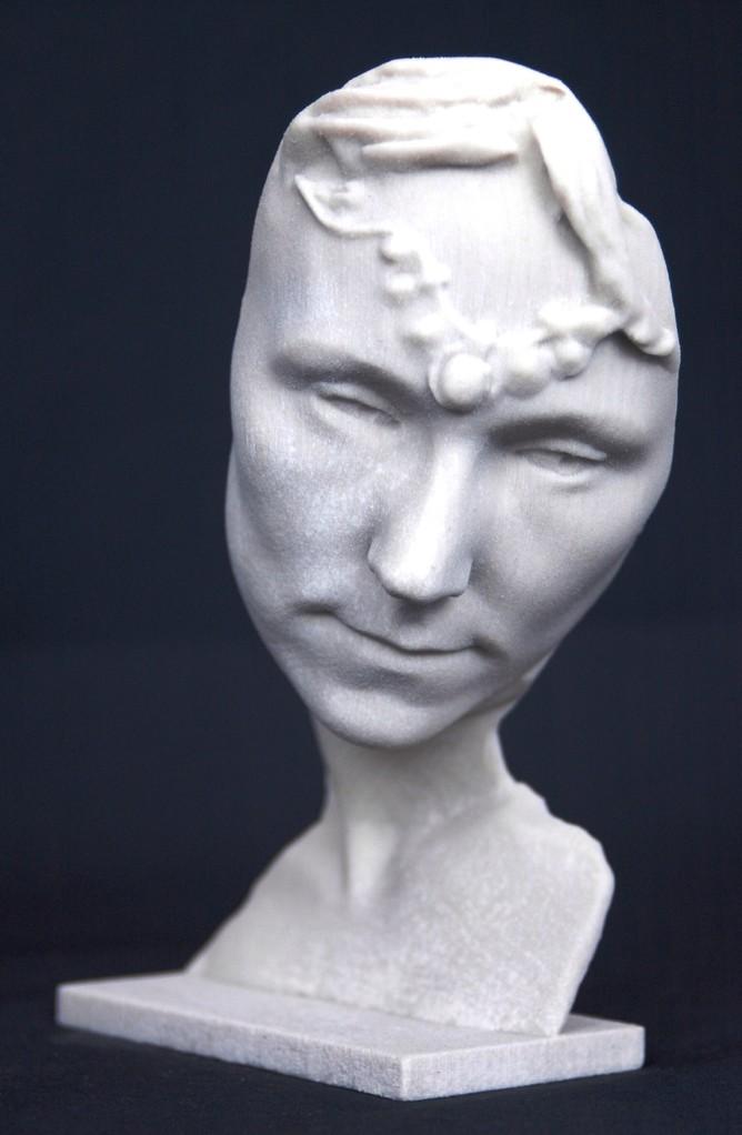 3D Büste ein trauriger Engel