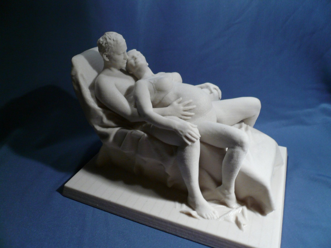 Schwangerschafts Scan liegende Paar