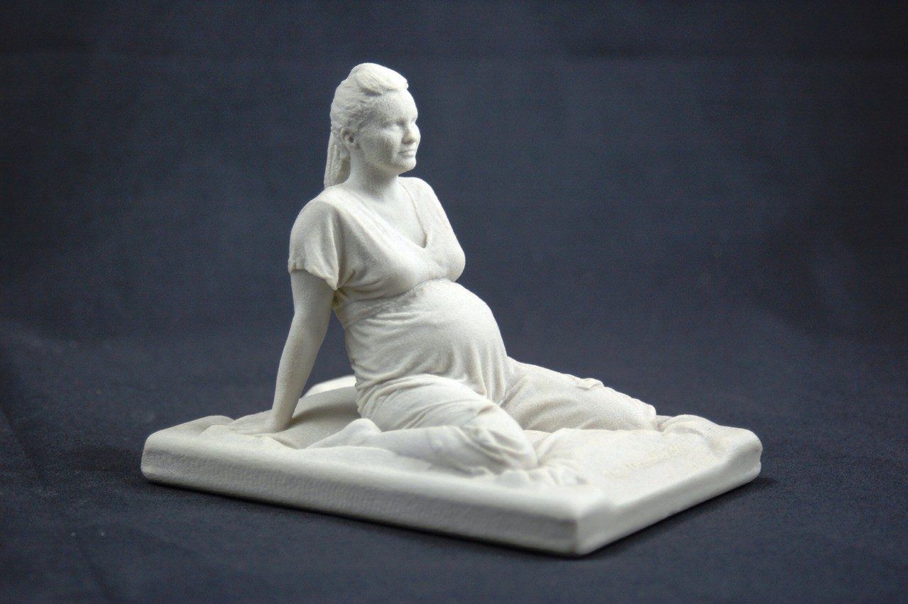 Schwangerschafts Scan Frau im sitzen