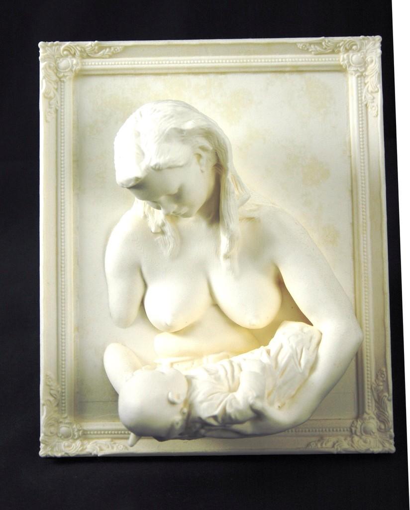 3D Wandbilder Mutter stillt Kind