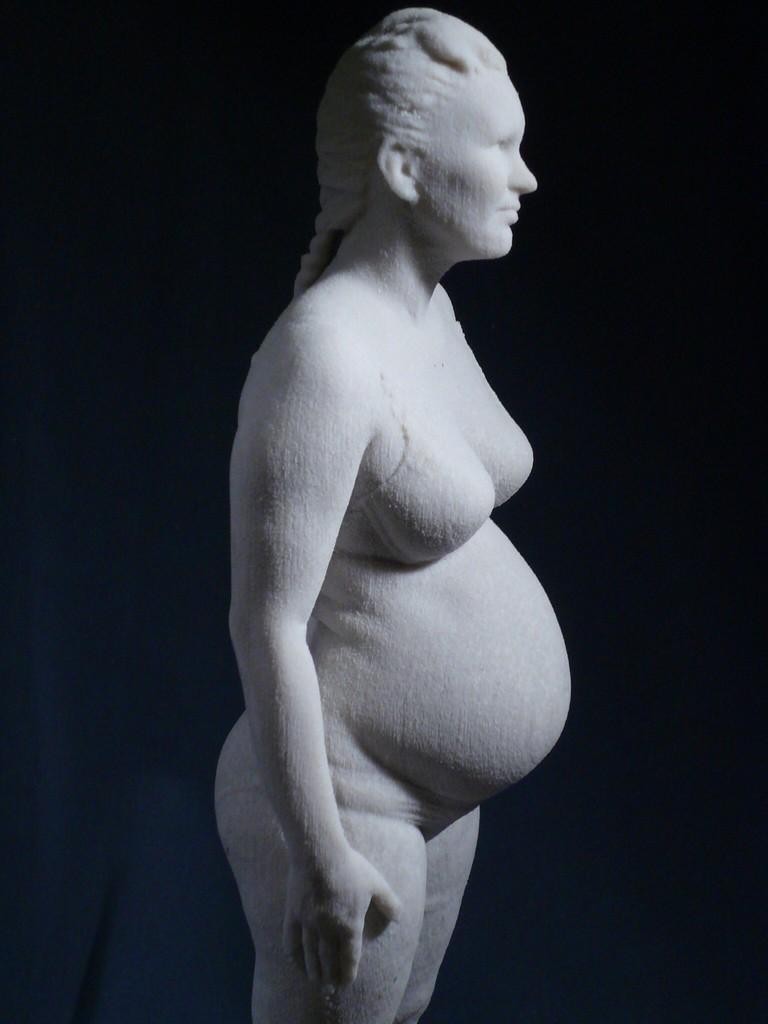 Pregnant Scan Body Statue01