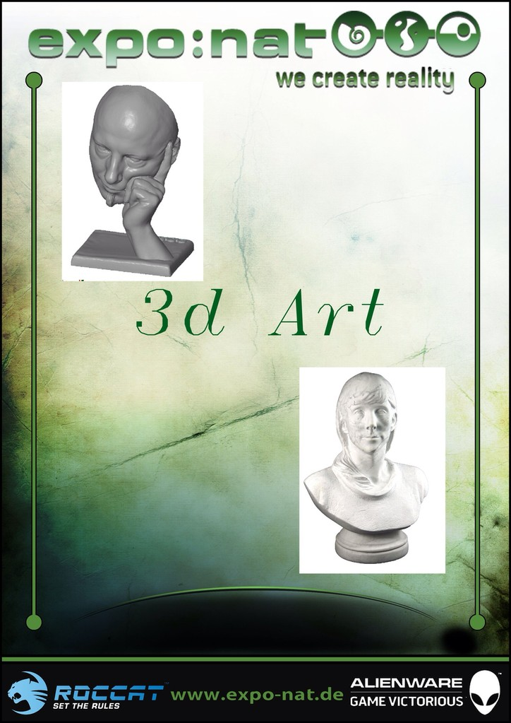 3D Art digitale Bildhauer Kunst