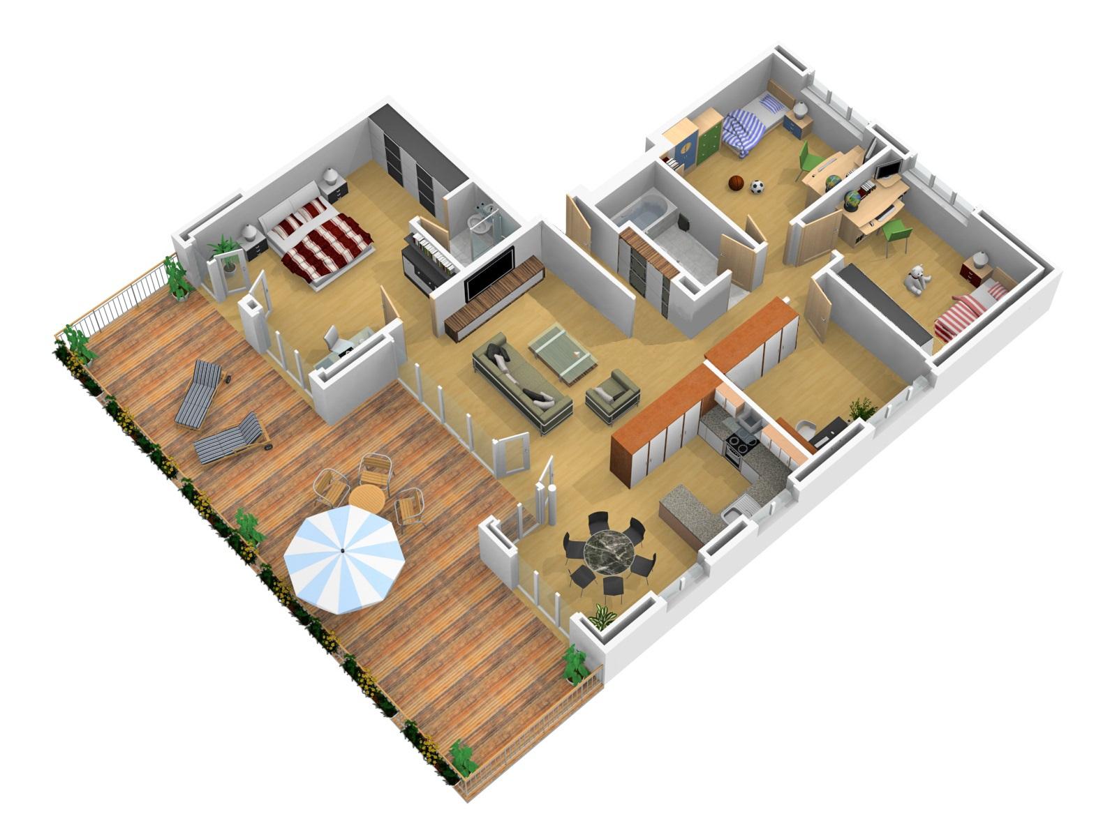 Grundriss Wohnung 3D