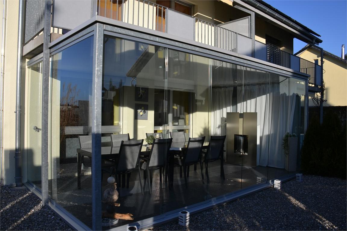 Terrasse mit Verglasung