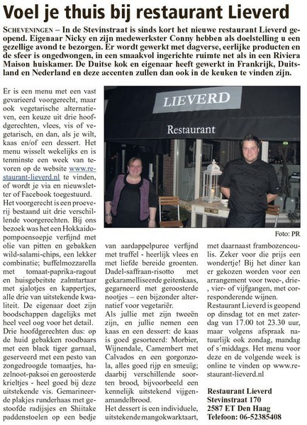 Scheveningse courant, 20 november 2013