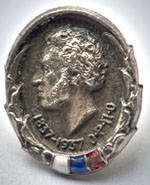 The medallion Pushkin's face, 1937        Памятный значок.