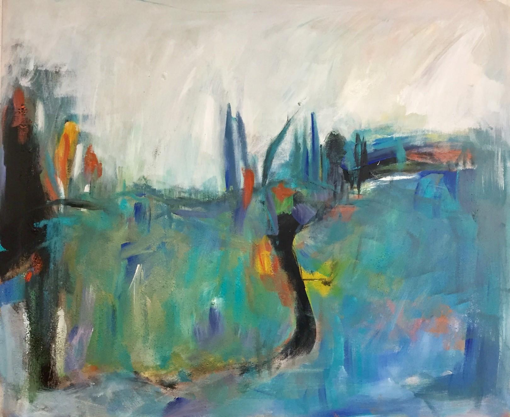 Landschaft, Acryl auf Leinwand, 120x100cm