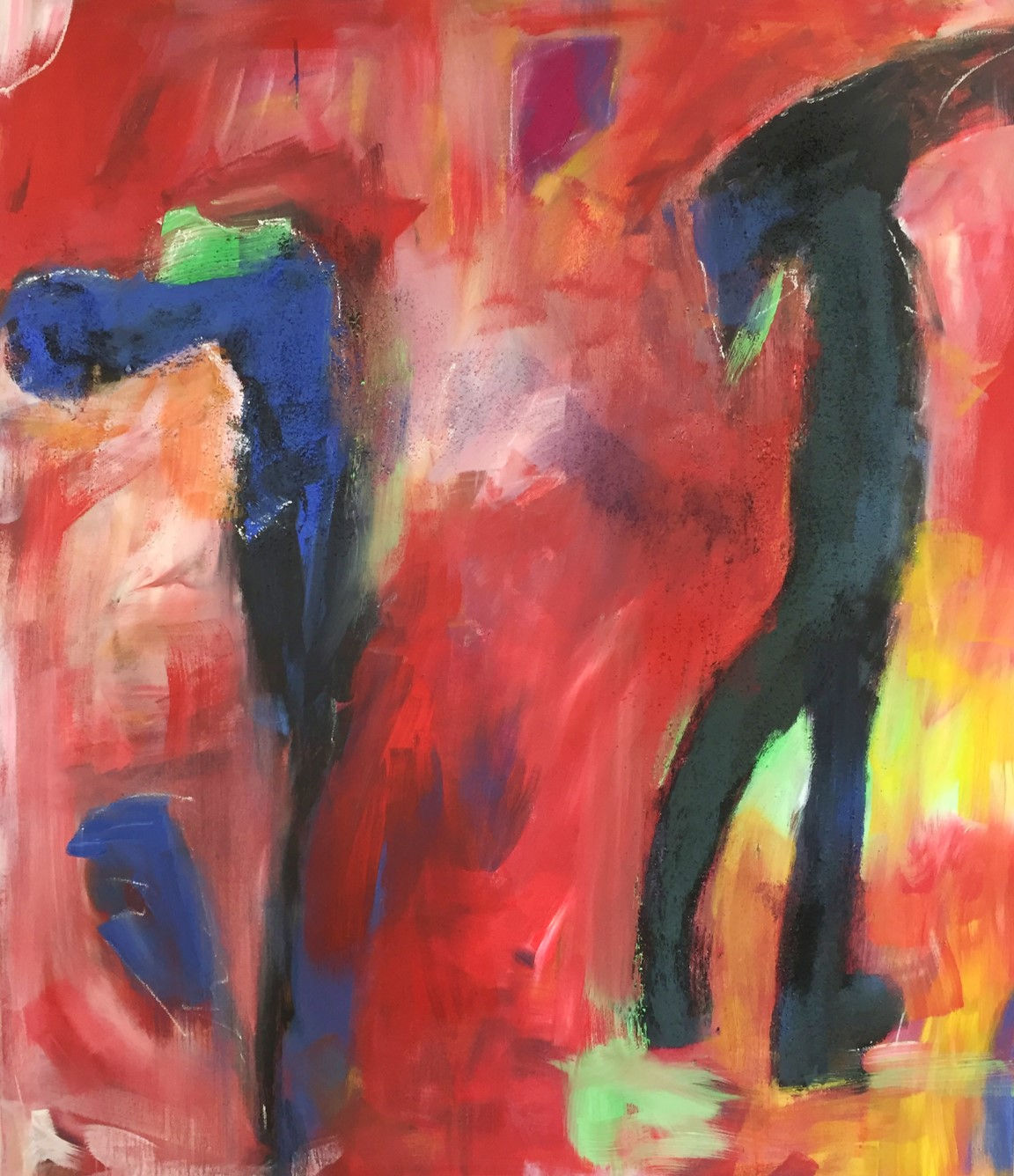 Tanz, Acryl auf Leinwand, 120x100cm