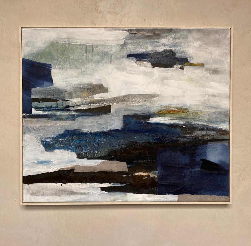 Ohne Titel, Mischtechnik auf Leinwand, 50x60 cm