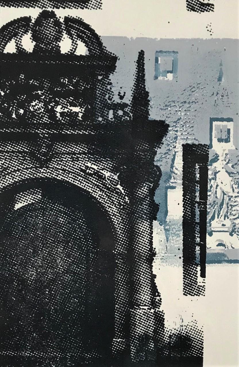 Experimenteller Siebdruck, 40x50 auf Karton, 2020