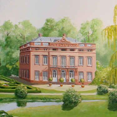 Detailansicht der Villa.