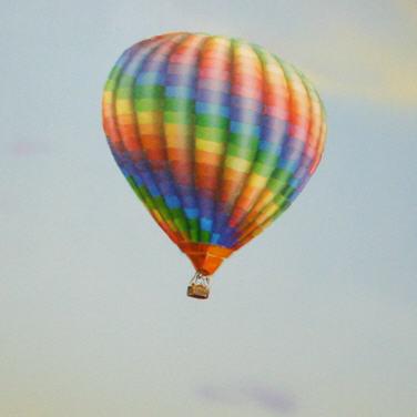 Ballon, Detail des Wandbilds Luftfahrt.