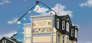 Fassadenmalerei auf einer Giebelwand
