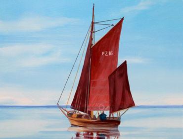 Das Segelboot im Detail.