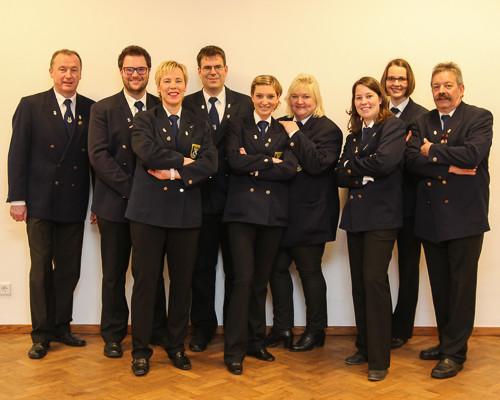 Der Vorstand der Musikkapelle Eversberg