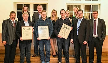 Vorstand und Jubilare der Musikkapelle Eversberg