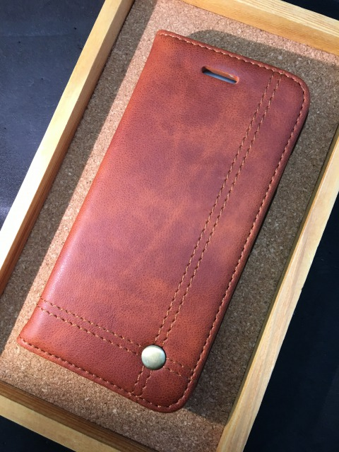 iPhone5/5S/SE/6/6S/7 レザー手帳ケース ストレート 各色2880円
