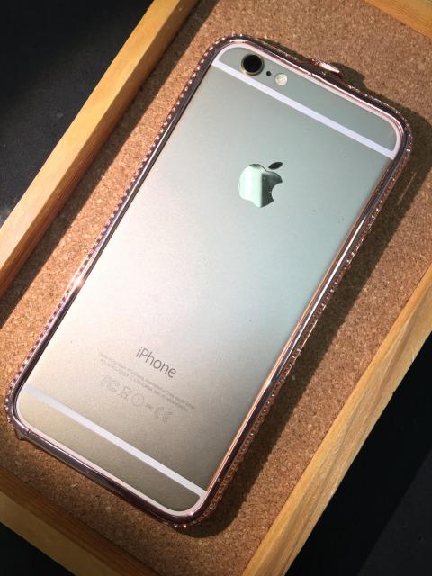iPhone6/6S ジュエリーバンパー ジルコニア 各色2380円