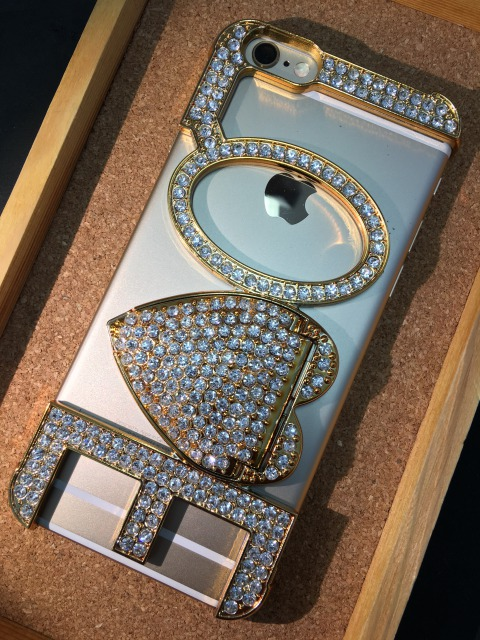 iPhone5/5S/SE/6/6S/6Plus/6Splus ジュエリーバンパー ジルコニア 各色2380円
