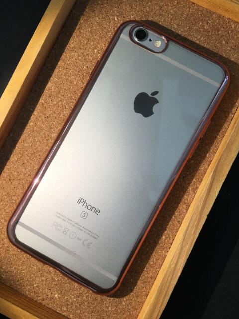 iPhone6/6S  TPUケース コーナーミラータイプ 各色1880円