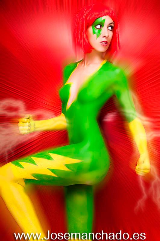 velocity, bodypaint velocity, cosplay velocity, bodypaint superheroina, bodypaint marvel