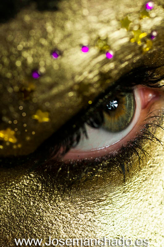 quiero ser modelo de fotografia golden idol make up bodypainting