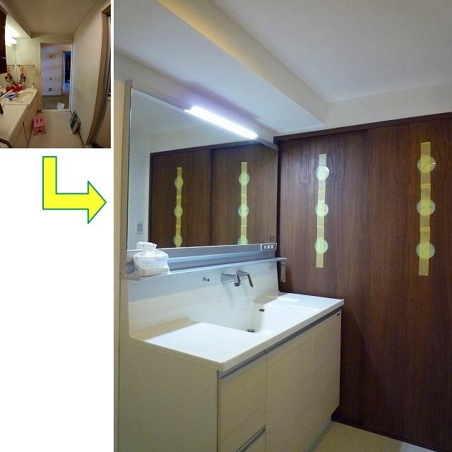 船橋市S様邸 洗面化粧台 タカラスタンダード:リジャスト