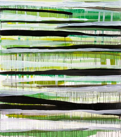 Monika Humm, going on / 23, 2007, Acryl auf Leinwand, 230 x 195 x 5 cm