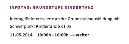 buchbar über TANZIMPULSE, Köln