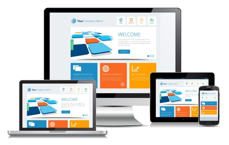 スマホ対応レスポンシブデザインのホームページ