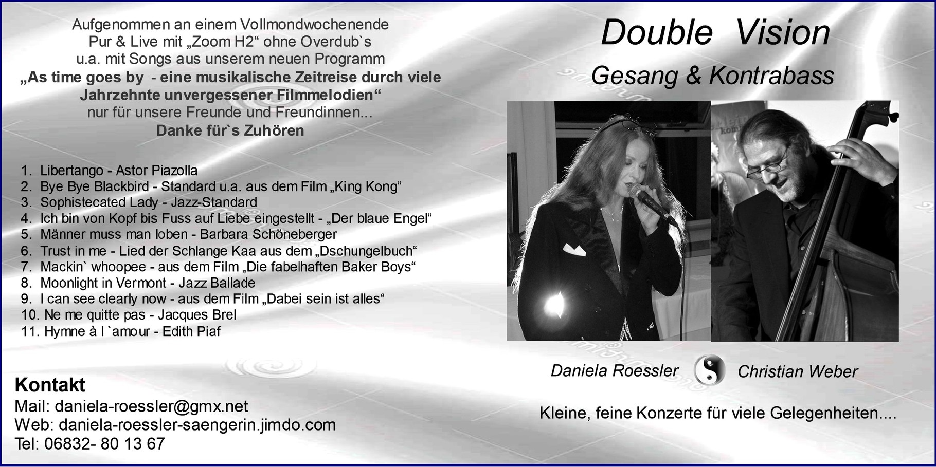 Double Vision - Kontrabass & Gesang