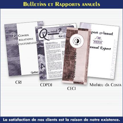 Bulletins et Rapports