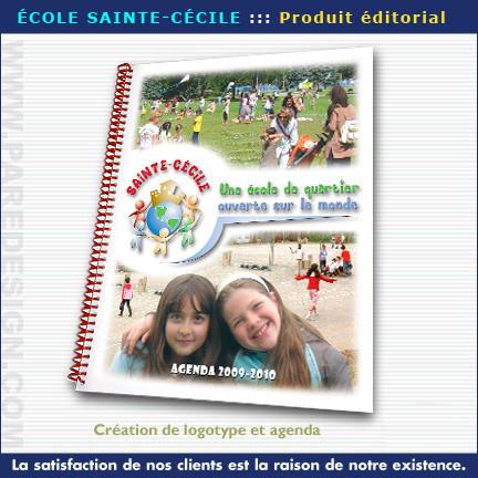 Conception graphique pour l'École Sainte-Cécile - Agenda 2010/2012