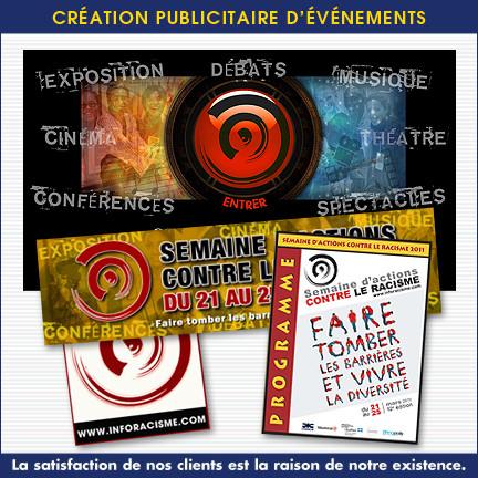 Promotion publicitaire, affiche, catalogue, brochure et site Web - SACR