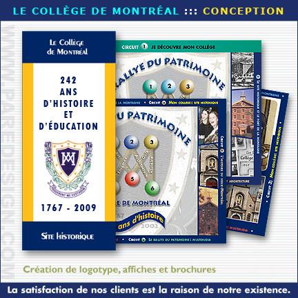 Brochures, catalogues et dépliants pour le Collège de Montréal