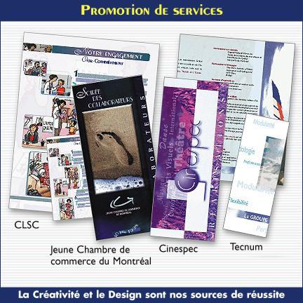 Brochures d'information pour différentes organismes