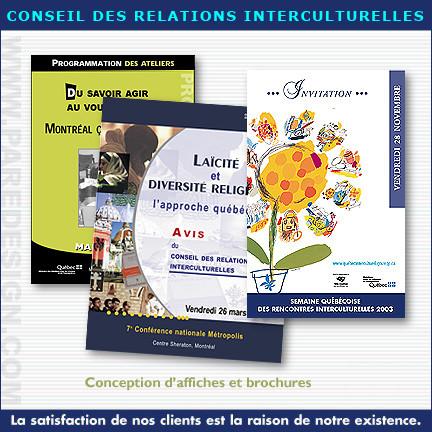 Brochures d'information pour le Conseil des Relations Interculturelles
