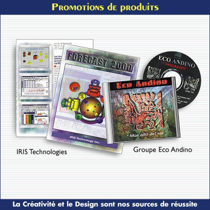 Promotion publicitaire pour différentes entreprises